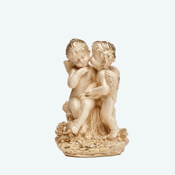 Ангел «Поцелуй» слоновая кость