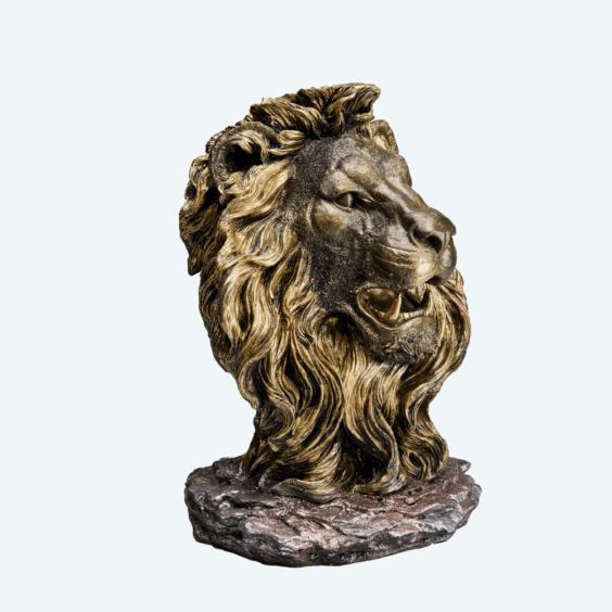 Голова льва бронза