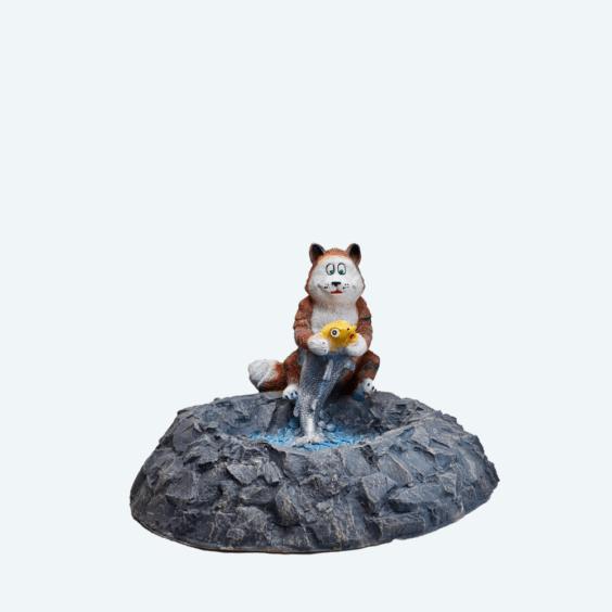 Люк «Кот с рыбкой»