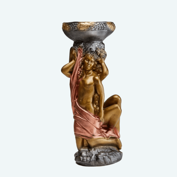Адам и Ева кашпо бронза