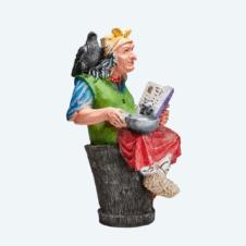 Баба яга с книгой