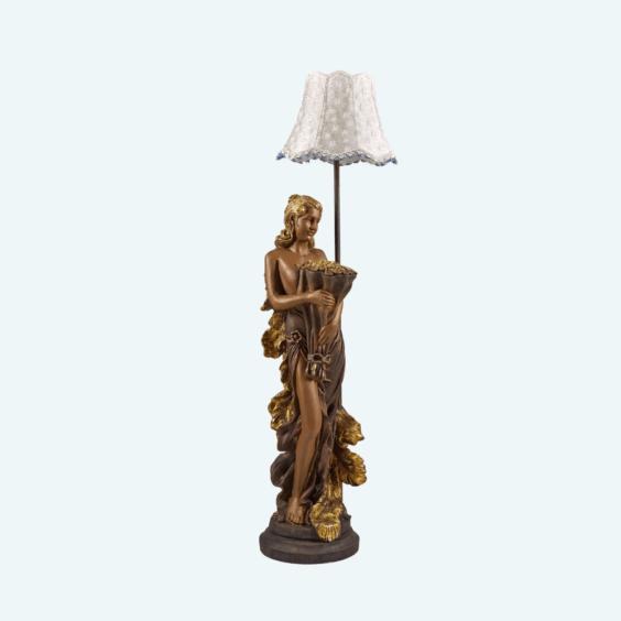 Светильник «Девушка с букетом» бронза