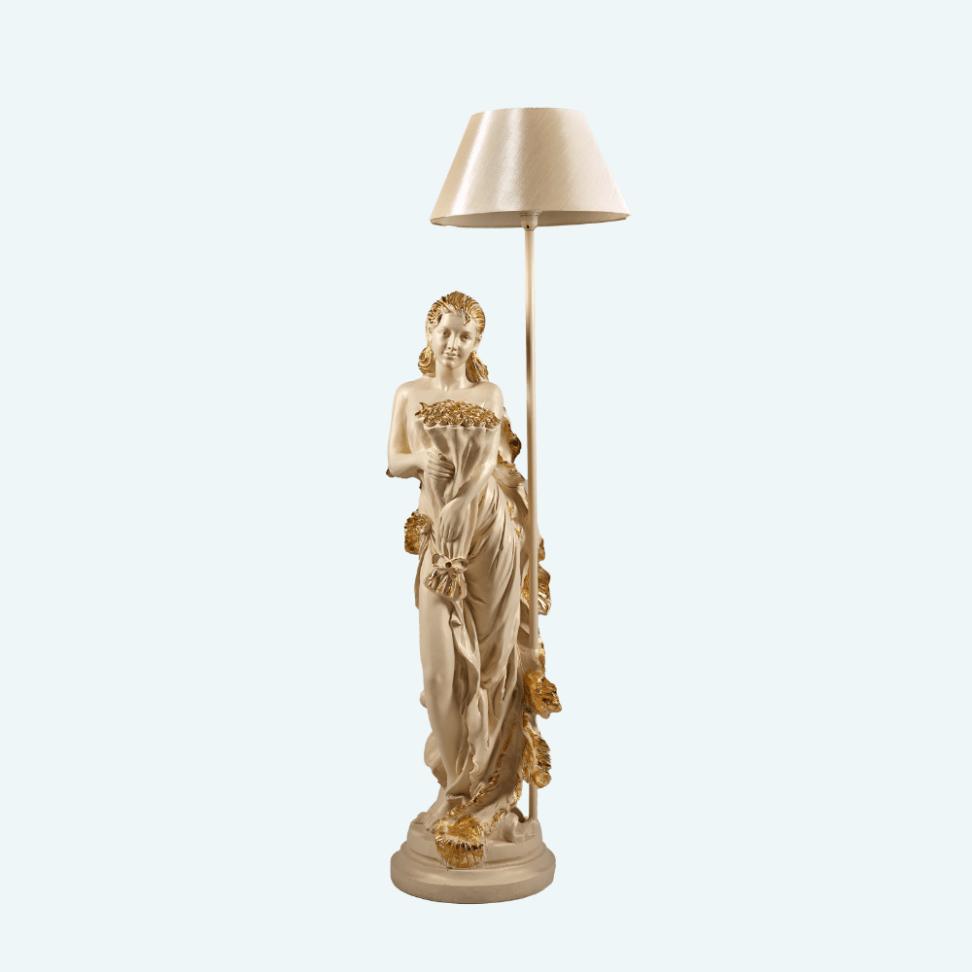 Светильник «Девушка с букетом» слоновая кость